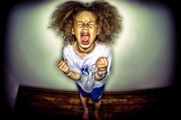 Child temper tantrum