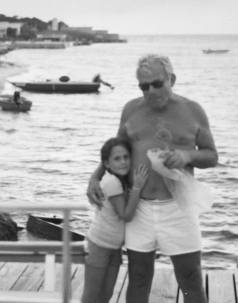 Grandpa and F on Fire Island